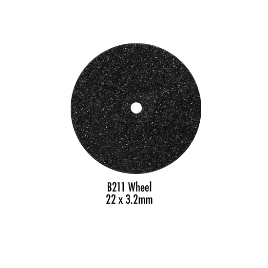 Wagner Silicone Wheel Black Medium D22/3 Pack of 100 Pieces