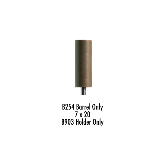Wagner Silicone Cylinder Coarse Dark Brown D7/20 For CrCo & Non Precious Alloy Pack of 100 Pieces